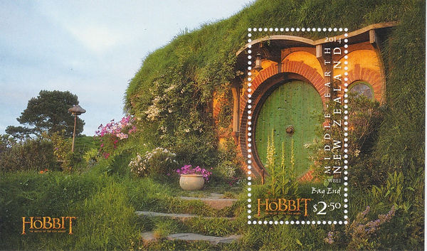New+Zealand+2014+Hobbit+Stamps+with+wood