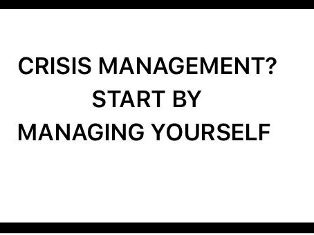 Crisis Management starts inside your head