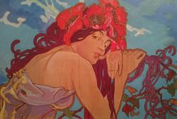 Verano. Una versión de Alfons Mucha