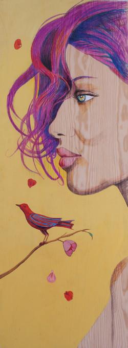 WOMAN AND BIRD.