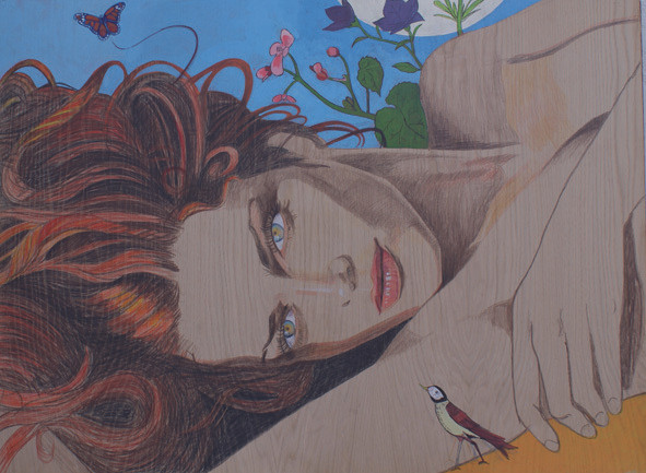Mujer y naturaleza. 92x127 cm