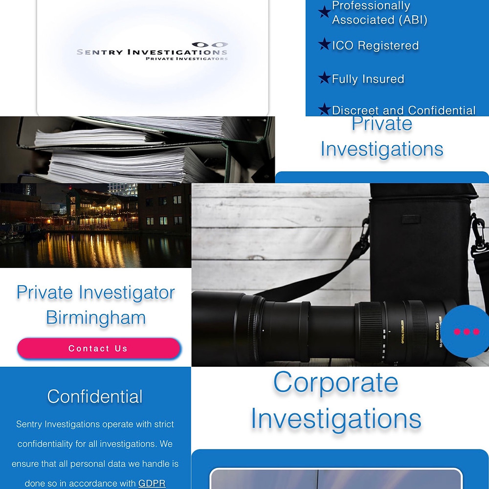 Sentry Investigations New Website