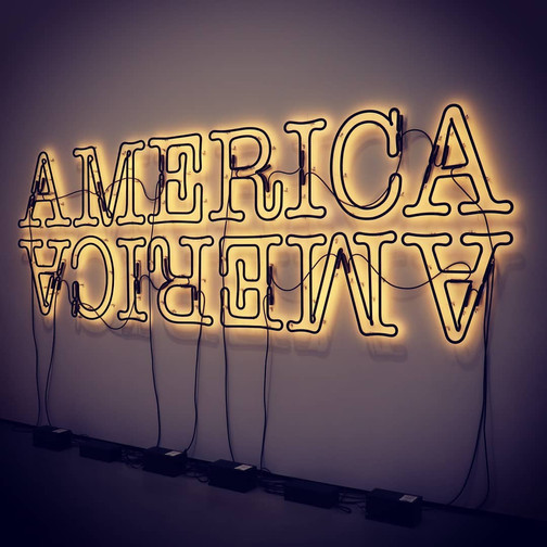 Glenn Ligon - Double America 2