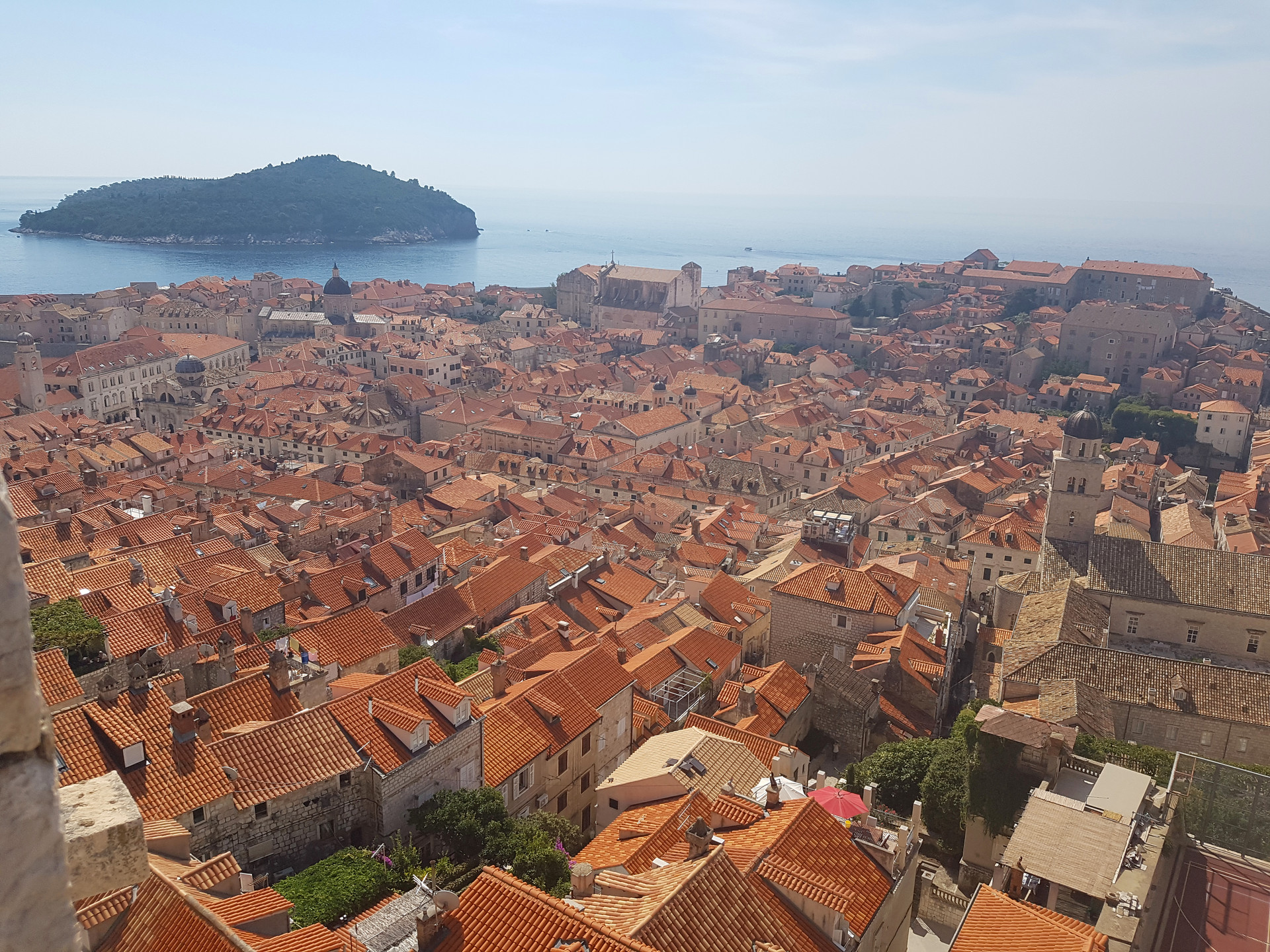 View of Old Town & Lokrum Island