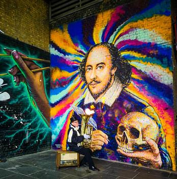 William Shakespeare Mural