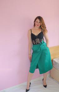 Pevensie Pencil Wrap Skirt - Forest