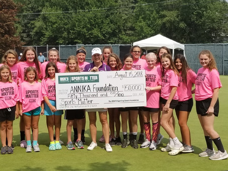 The DICK'S Sporting Goods Foundation Donates $50,000 Sports Matter Grant to The ANNIKA Foundation