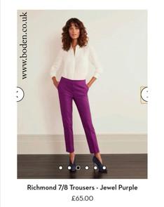 Richmond Trousers - Jewel Purple