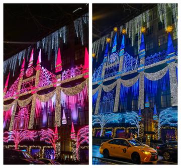 Saks Holiday Light Show