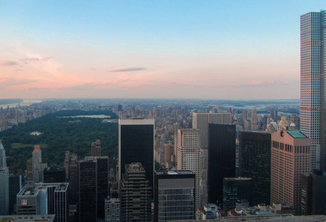 View of Central Park from Rockefeller
