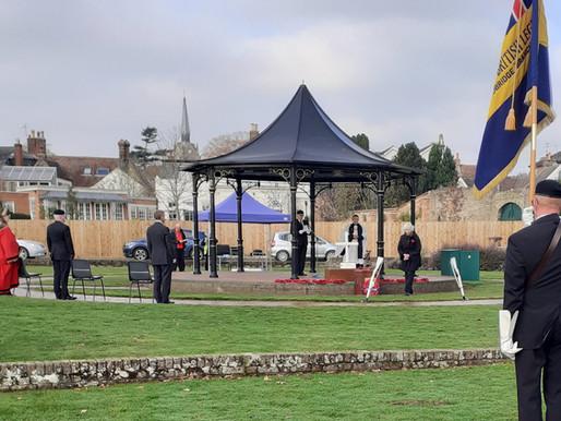Remembrance Sunday in Elmhurst Park