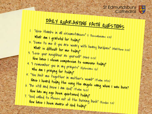 Daily Quarantine Faith Questions