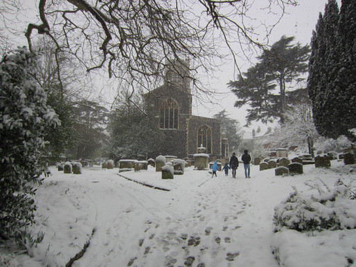 St Mary's looking a picture in the snow!