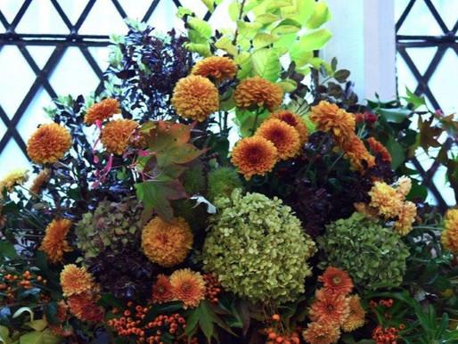 Stunning flower arrangements for Harvest Festival