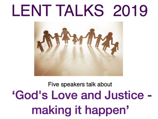 Lent Talks starting in March