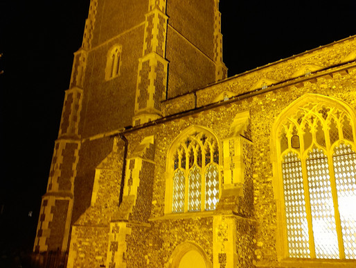 Floodlit in yellow