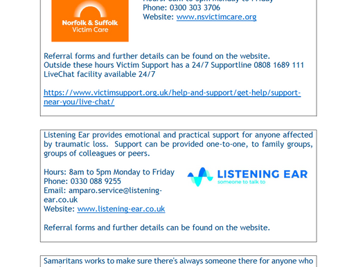Joint Bereavement Support