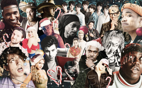 Apple Music Holiday Collage