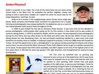 WE/Artist Spotlight Andre Phaneuf