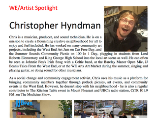 WE/Artist Spotlight Christopher Hyndman
