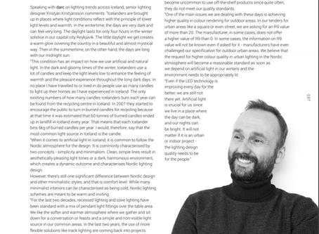 Norræn lýsingarhönnun í Darc Magazine