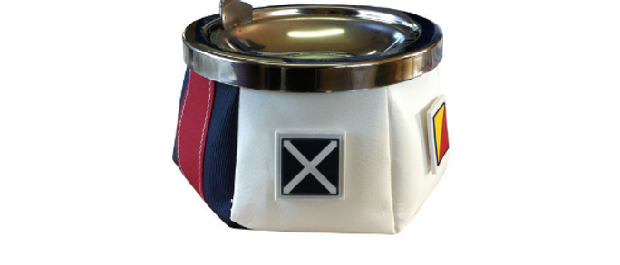 Windproof - Ashtray with lid (Sport flags)