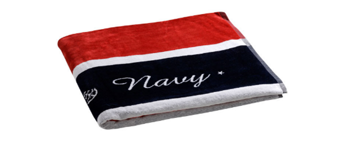 Royal - Beach towel with Pillow (Red)