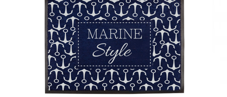 Welcome - Non-slip Mat (Marine Style)