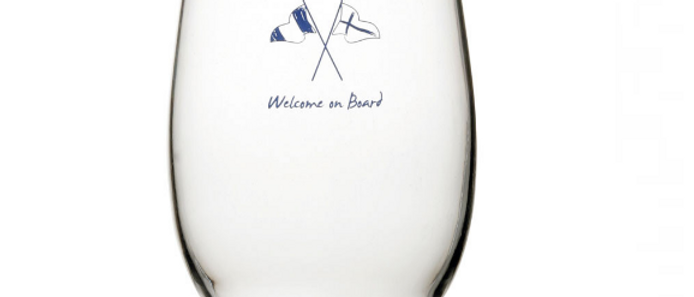 Welcome on board - Beverage Glass