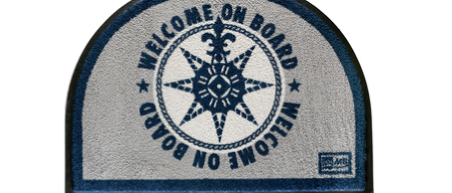 Welcome - Non-slip Mat (Blue Welcome on board)