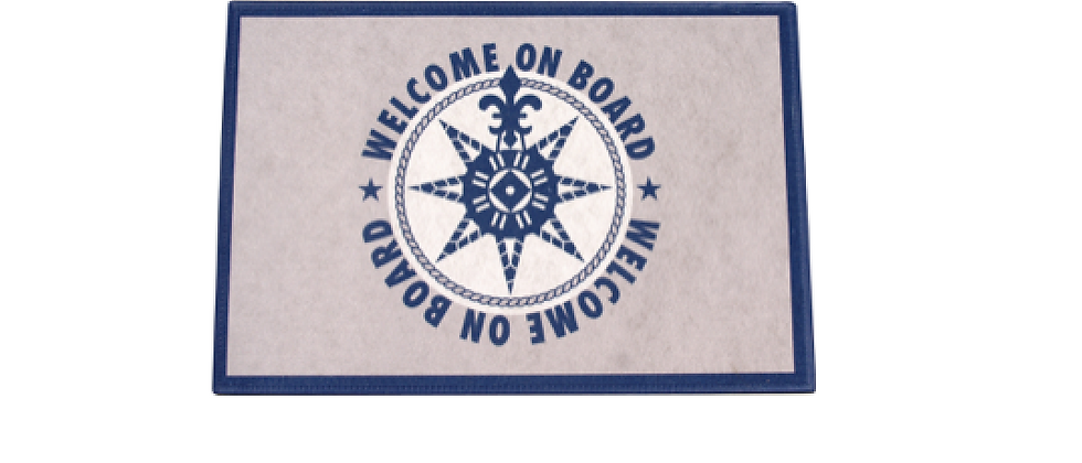 Welcome - Non-slip Mat (Blue on board)