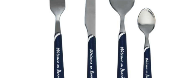 Welcome on board - Cutlery (Blue)