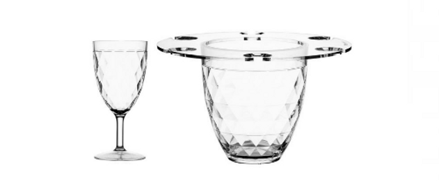 Party - Champagne Bucket with Wine glasses Set