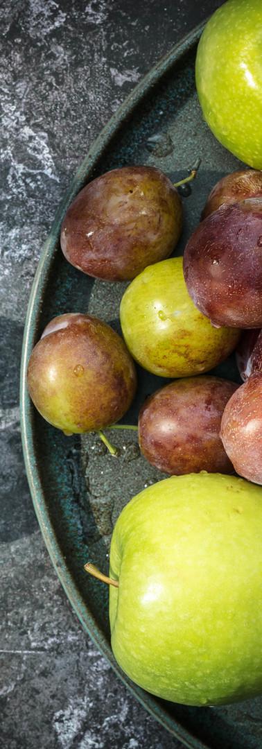Roast Apples & Plums