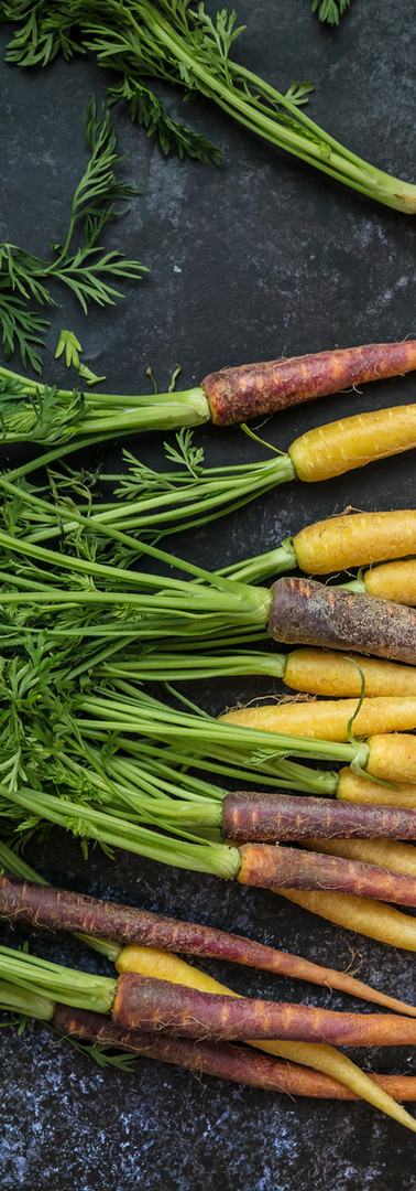 Roast Rainbow carrots from Grovers