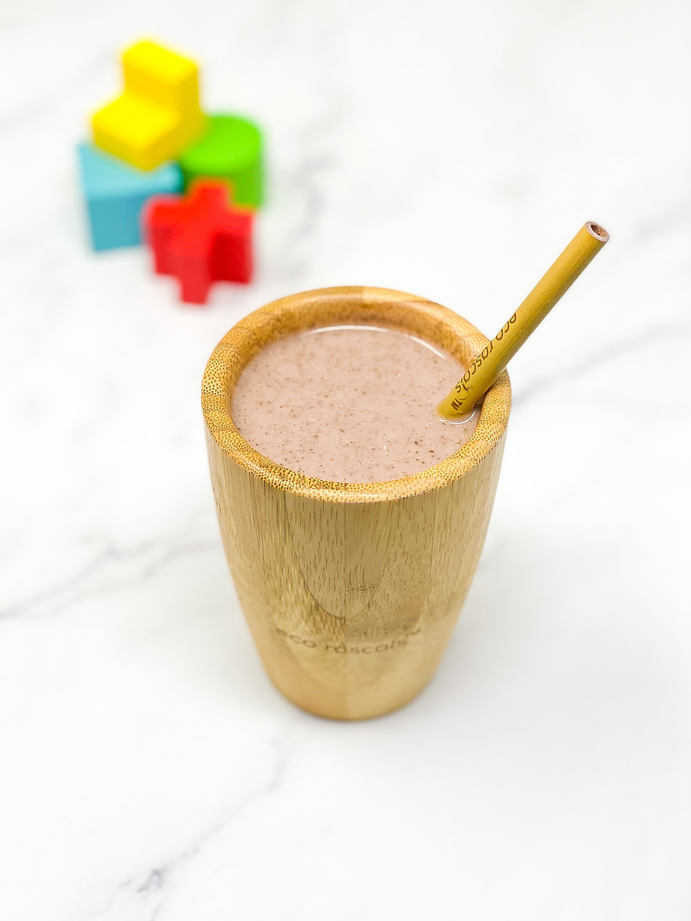 KIDS STRAWBERRY BANANA SMOOTHIE bamboo cup for kids