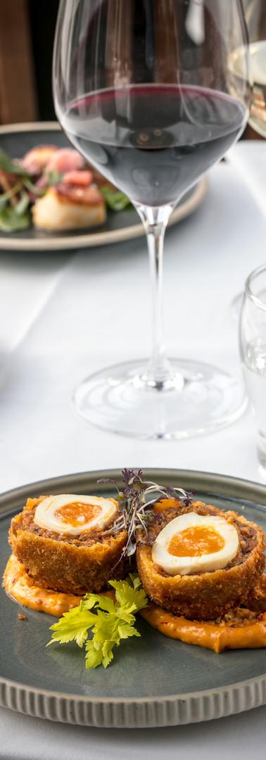 Roast Chorizo and merguez Scotch egg