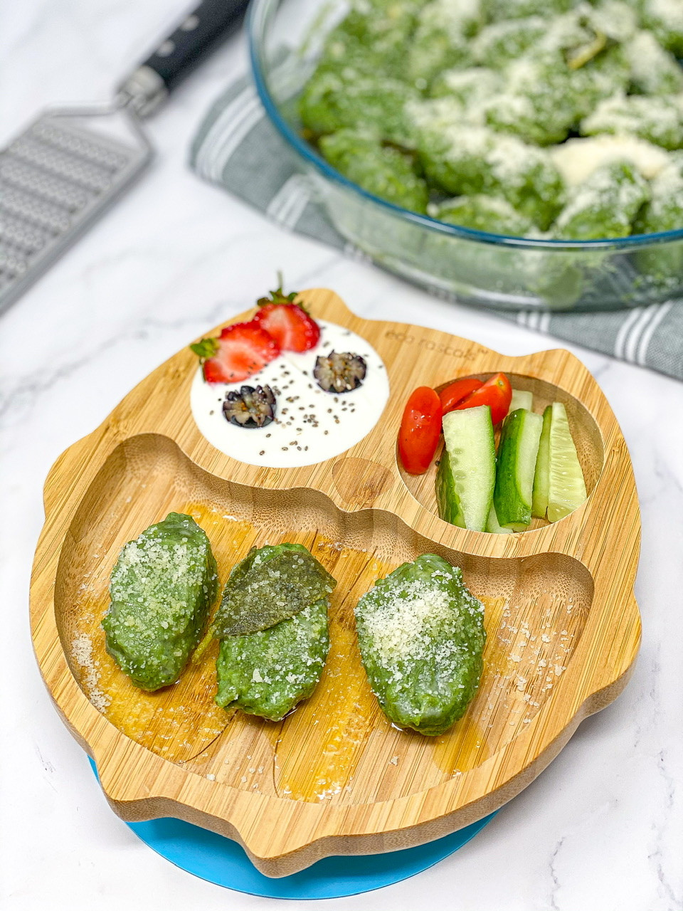 ITALIAN MALFATTI (spinach ricotta gnocchi)