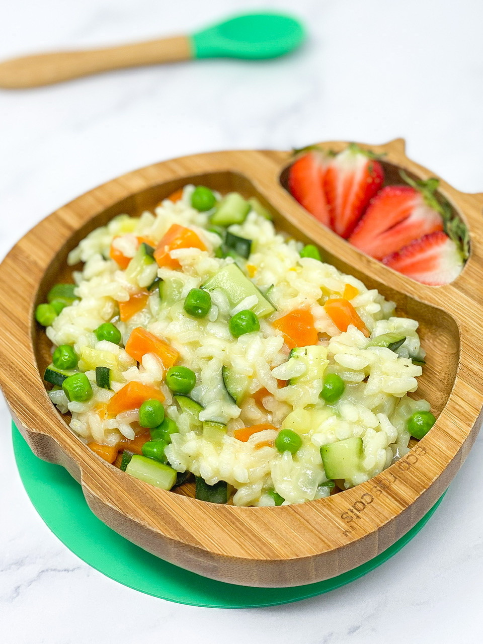 SUPER SPRING RISOTTO with strawberry blw food