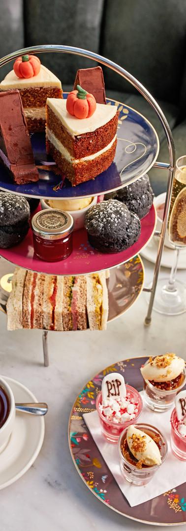 Roast Halloween afternoon tea set