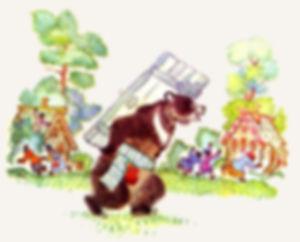 Медведь принес дверь в деревню сказка жу