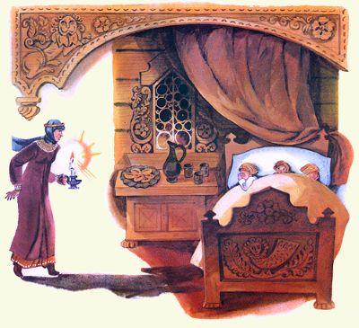 ведьма смотрит как спят дети сказка бела