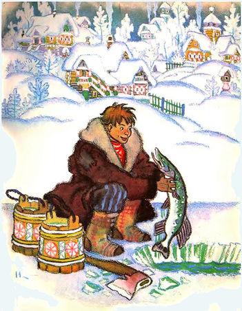 Емеля вытащил щуку сказка детский журнал