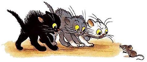 три котенка увидели серую мышь.jpg