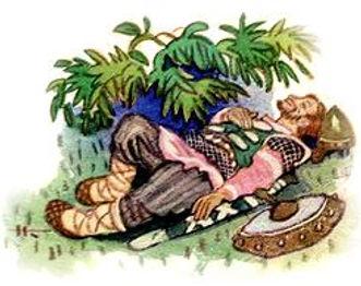 старший брат спит около моста где иван б