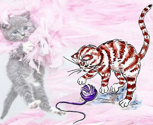 кот и клубок#детский журнал Юморашка#стихи о животных для детей