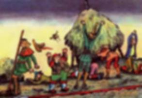 Сказка с картинками Братьев Гримм Семеро