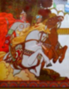 витязи на конях былина алеша попович дет