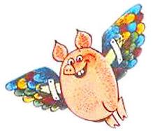 летящий на крыльях поросёнок в сказке.jp