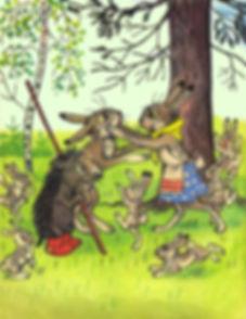 ёжик привел зайчика домой к зайчатам.jpg